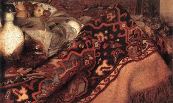 Vermeer A Woman Asleep at Table detail2